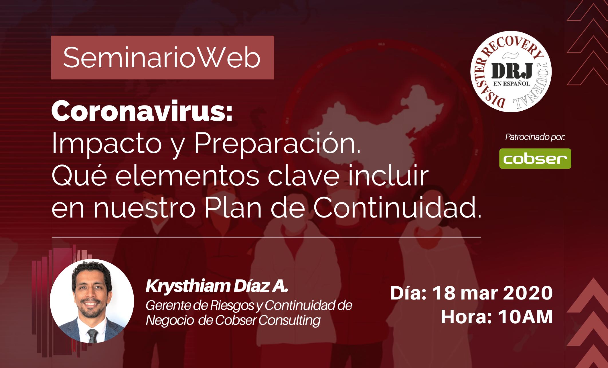 Promoción webinar Coronavirus