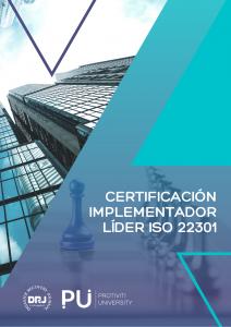 IMPLEMENTADOR LÍDER ISO 22301 CERTIFICADO