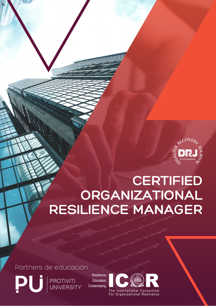 Portada CERTIFIED ORGANIZATIONAL RESILIENCE MANAGER
