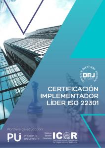 Portada IMPLEMENTADOR LÍDER ISO 22301 CERTIFICADO